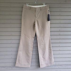 NWT Tan Banana Republic Martin Fit Trousers 8S